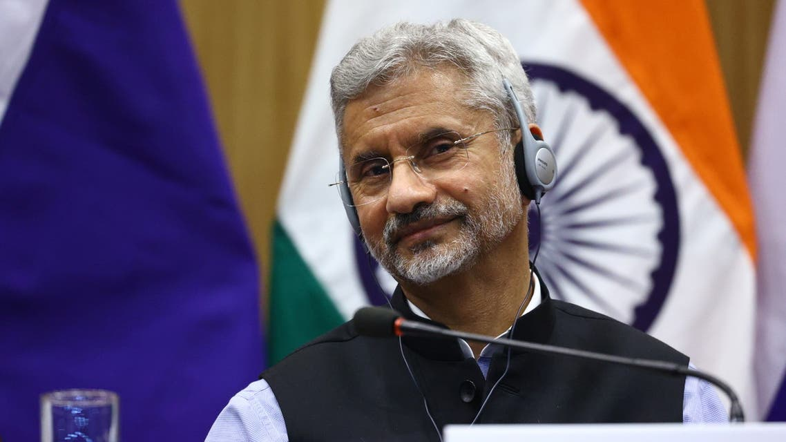 Indian Foreign Minister Jaishankar attends a news conference in New Delhi. (Reuters)