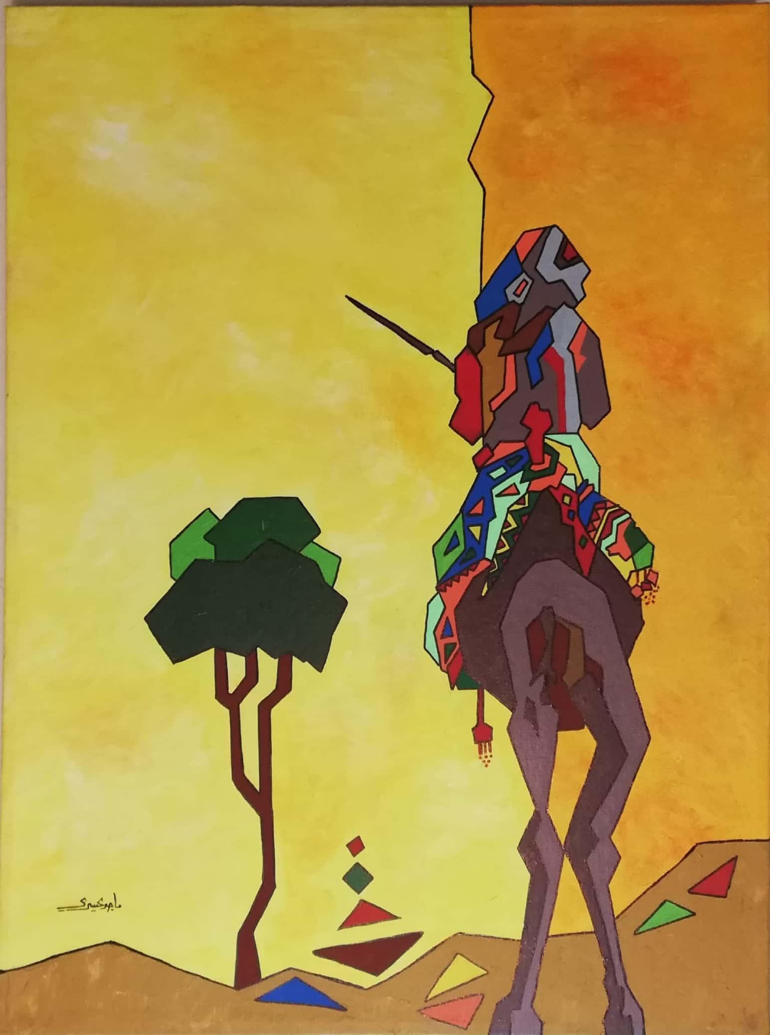 ماجد العسیری کا ایک منفرد فن پارہ