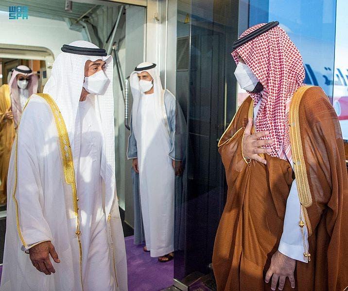 محمد بن سلمان ومحمد بن زايد في جدة