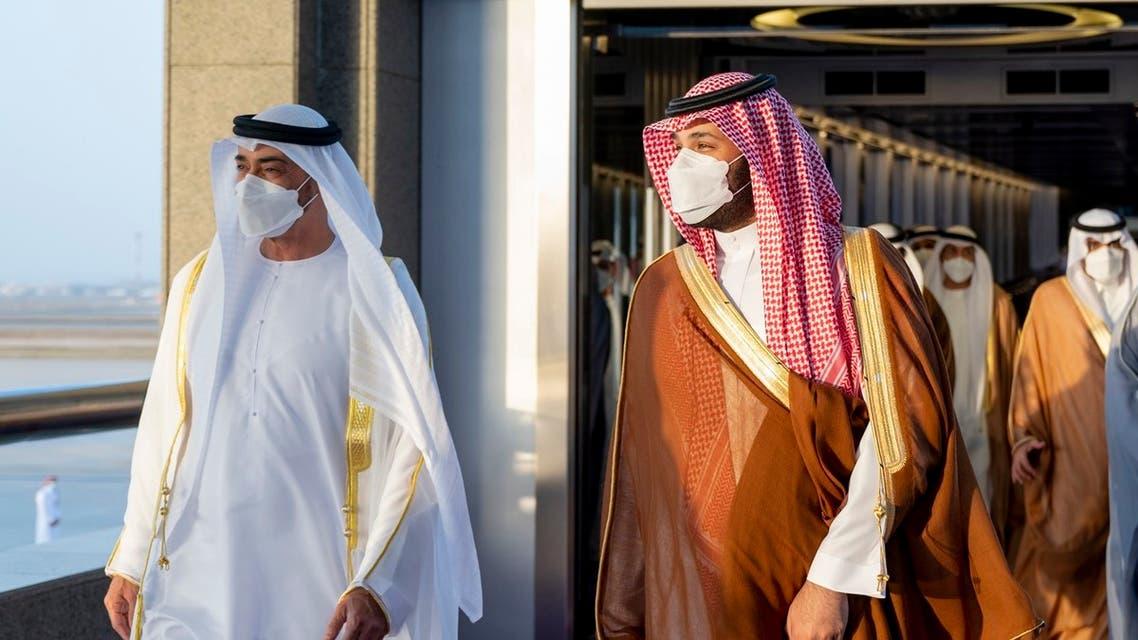 الأمير محمد بن سلمان وولي عهد أبوظبي في جدة -