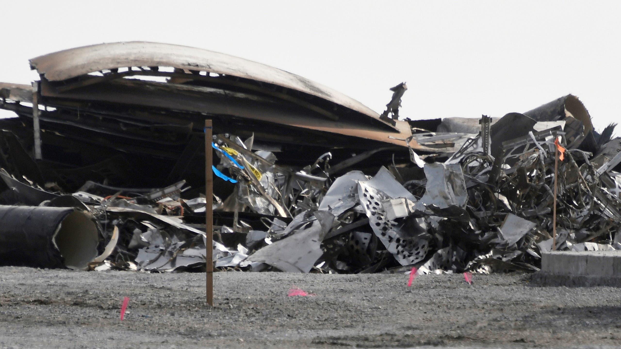 حطام صاروخ سابق انفجر في تكساس في 31 مارس الماضي