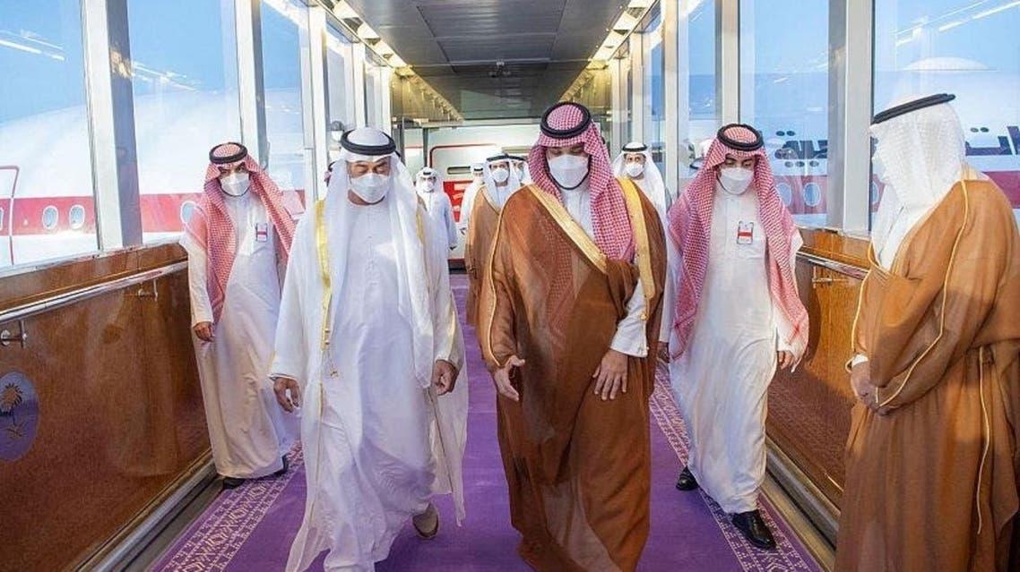 استقبال محمد بن سلمان از ولیعهد ابوظبی