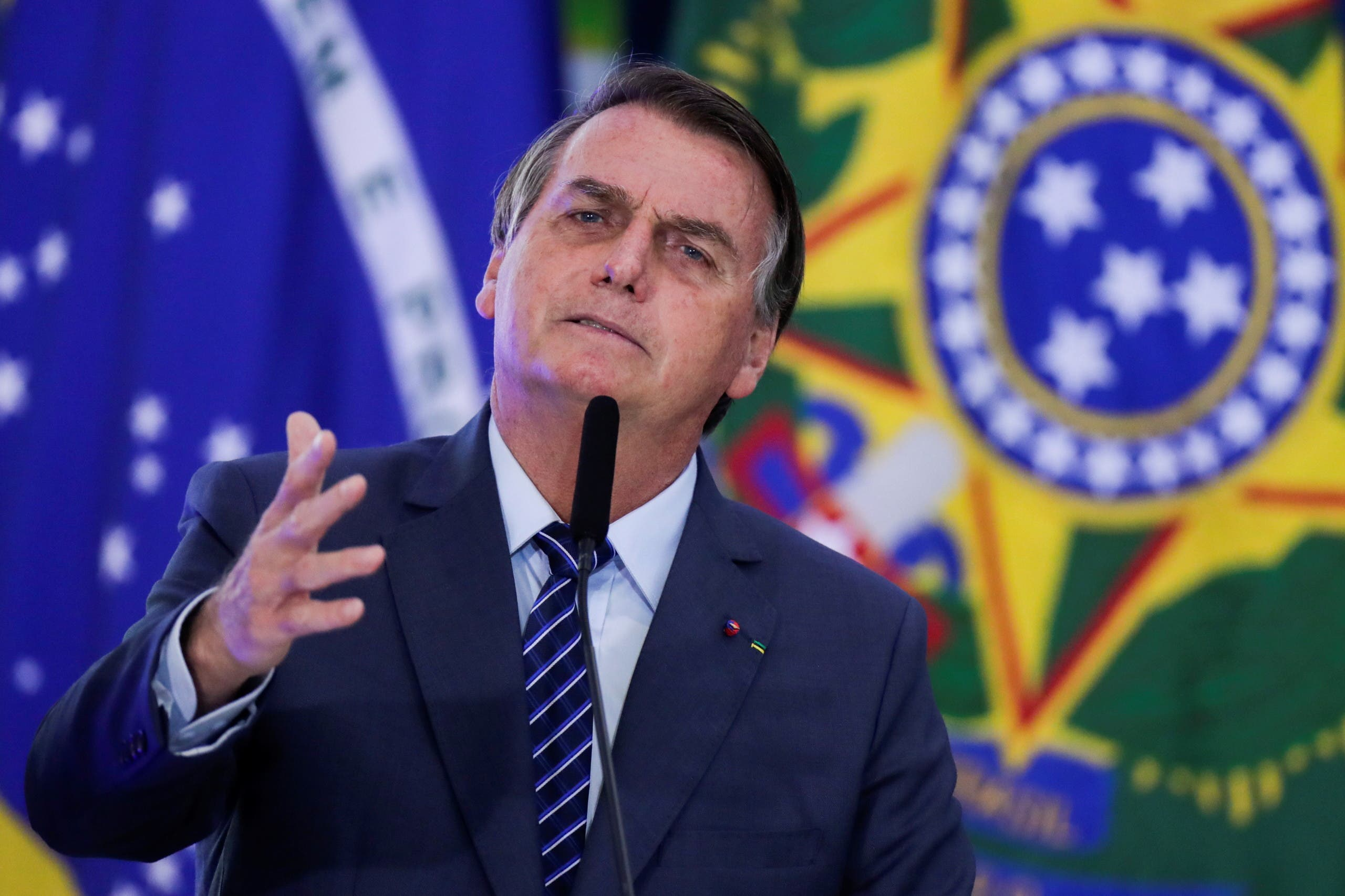 Brazil's President Jair Bolsonaro speaks during the opening ceremony of the Communications Week at the Planalto Palace in Brasilia, Brazil May 5, 2021. (File photo: Reuters)