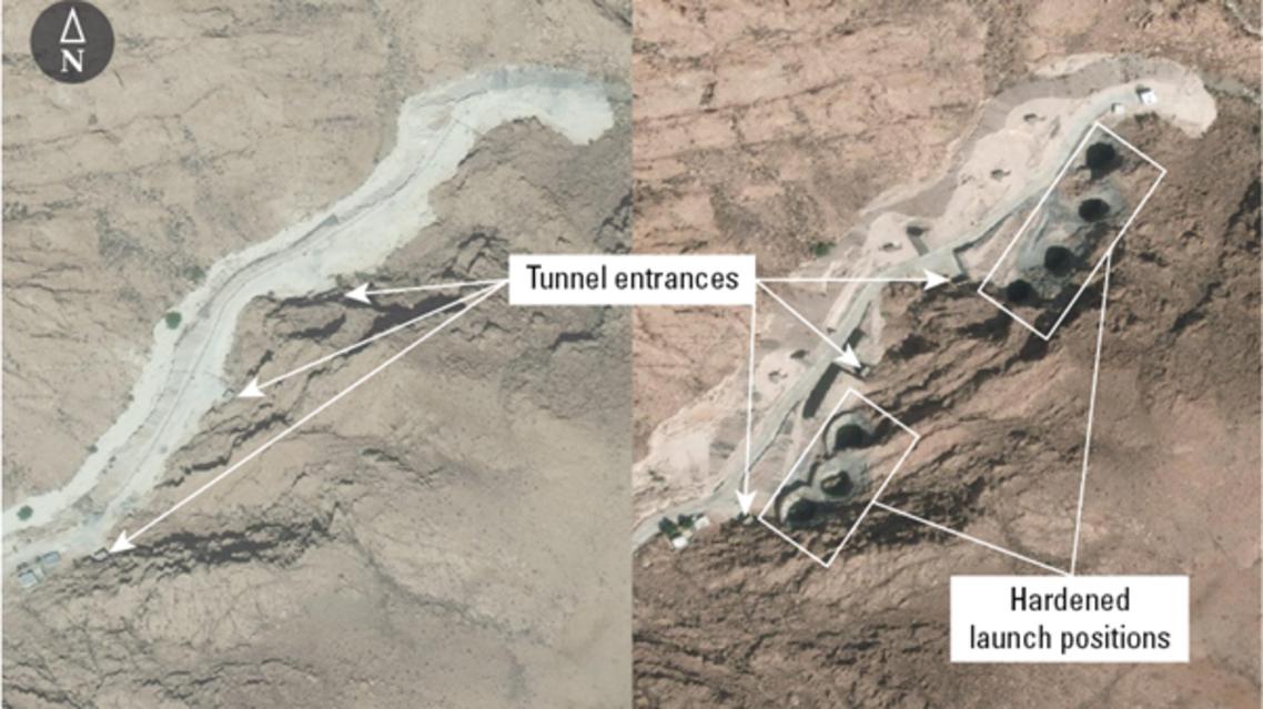 إيران صواريخ موقع حاجي أباد آباد لإطلاق الصواريخ