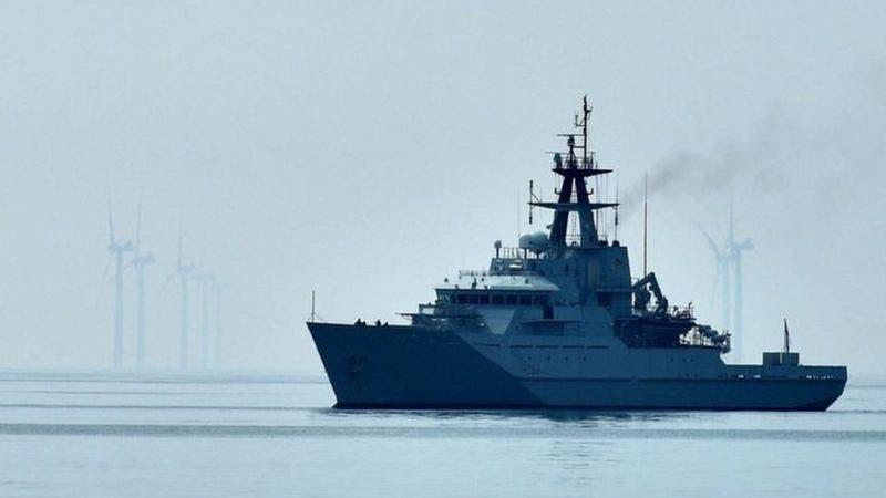 دورية بحرية بريطانية في مياه جيرسي