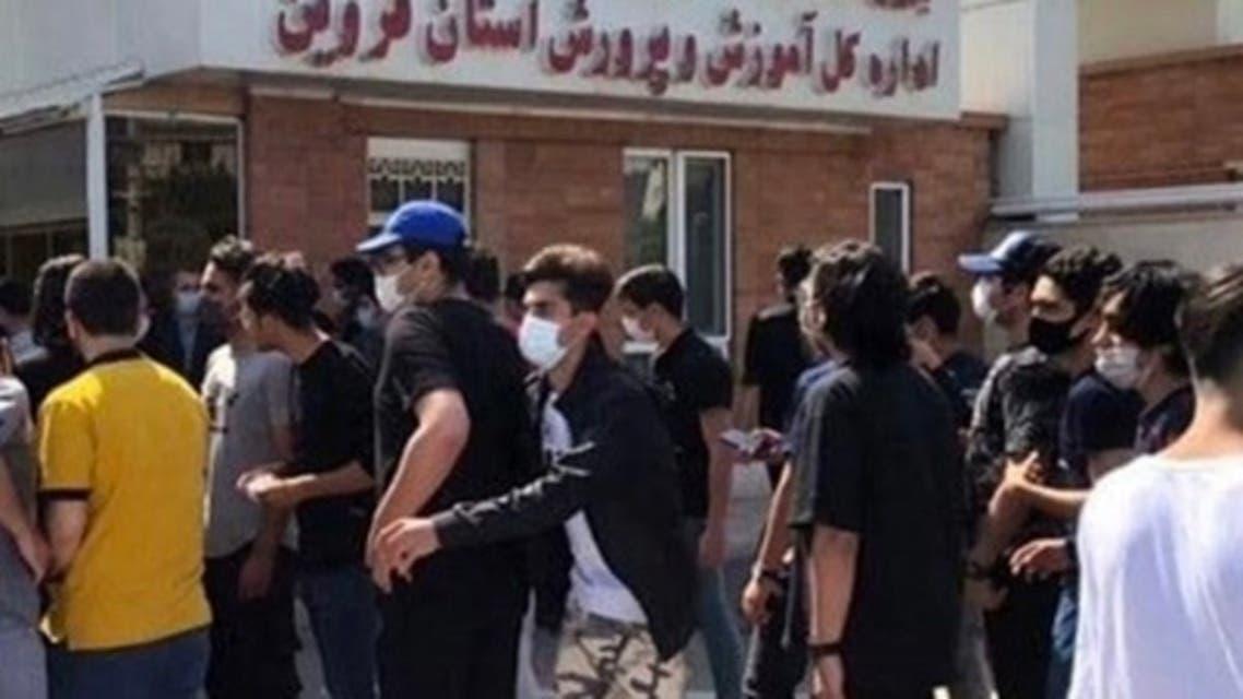 دانش آموزان معترض در قزوین
