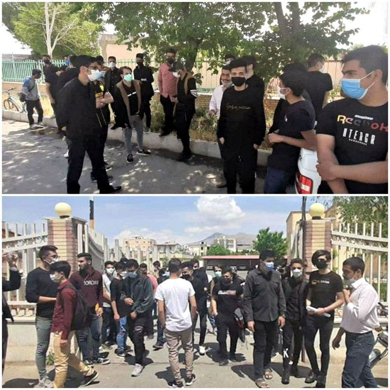اعتراضات دانش آموزان در اصفهان