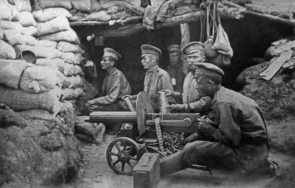 جنود روس بالحرب العالمية الأولى