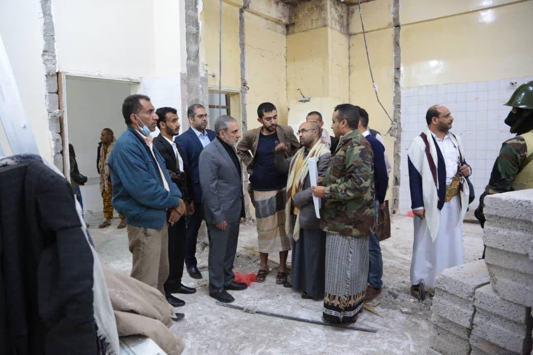 حسن إيرلو يتفقد مشاريع ترميم وسط صنعاء