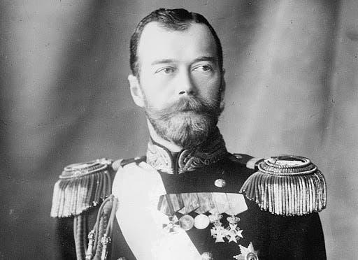 صورة للقيصر الروسي نيقولا الثاني