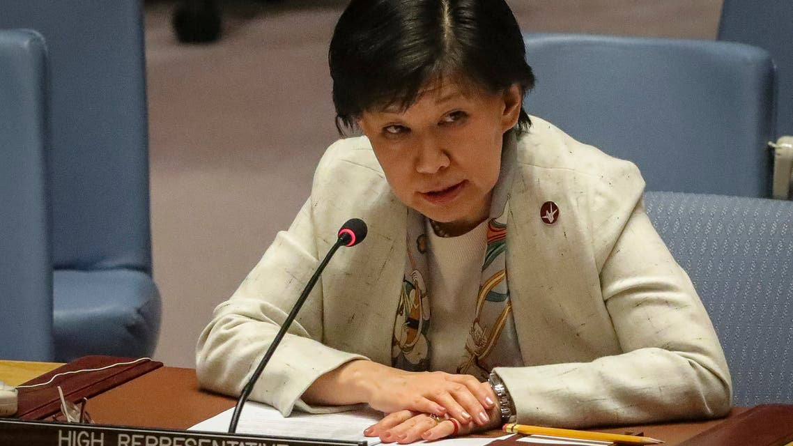 United Nations Representative for Disarmament Affairs, Izumi Nakamitsu, address a meeting on nuclear non-proliferation treaty in the U.N. Security Council, Wednesday, Feb. 26, 2020, at UN headquarters. (File photo: AP)