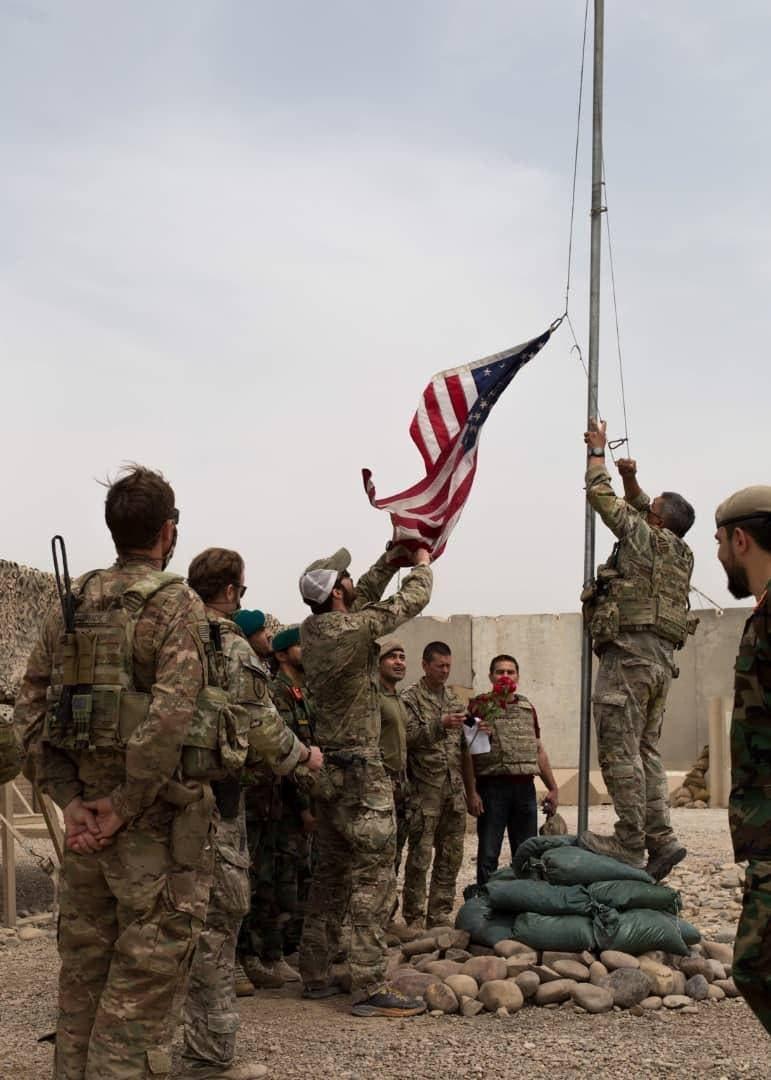 تسلم وتسليم بين القوات الأميركية والأفغانية