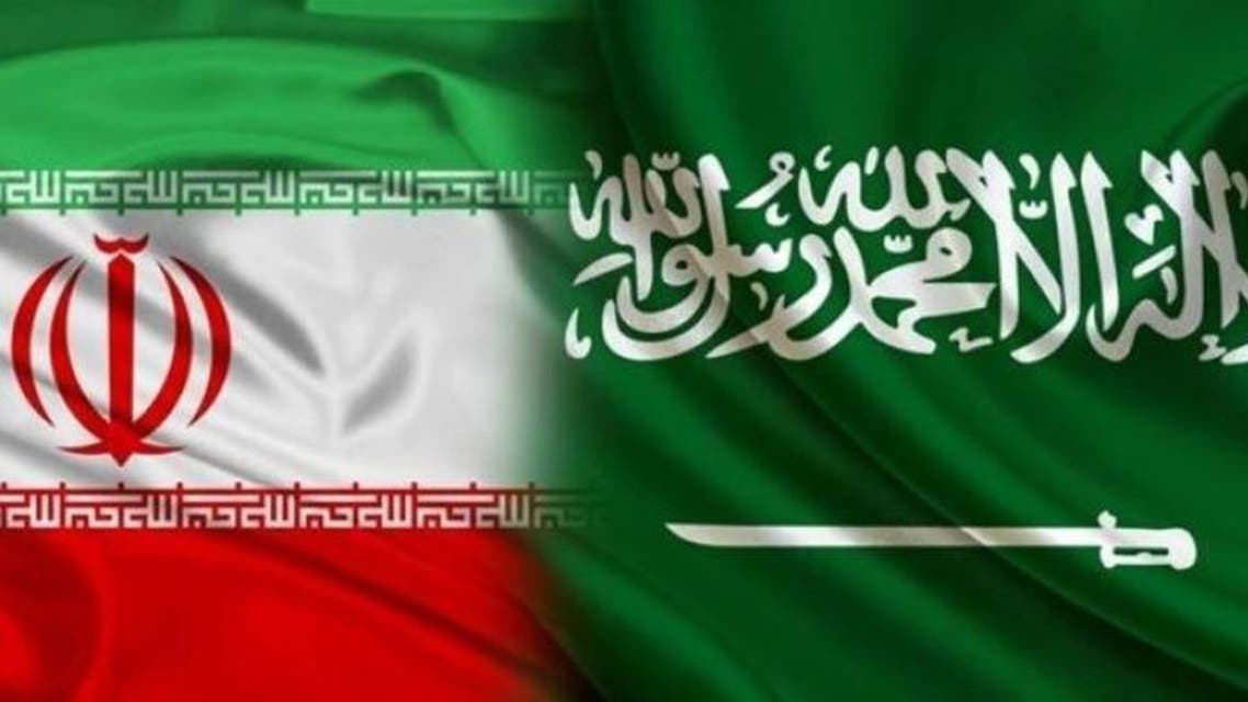 Iran saudi arab flags