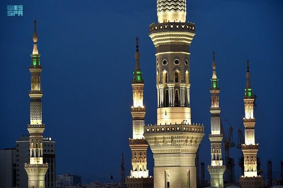 جمال مآذن المسجد النبوي