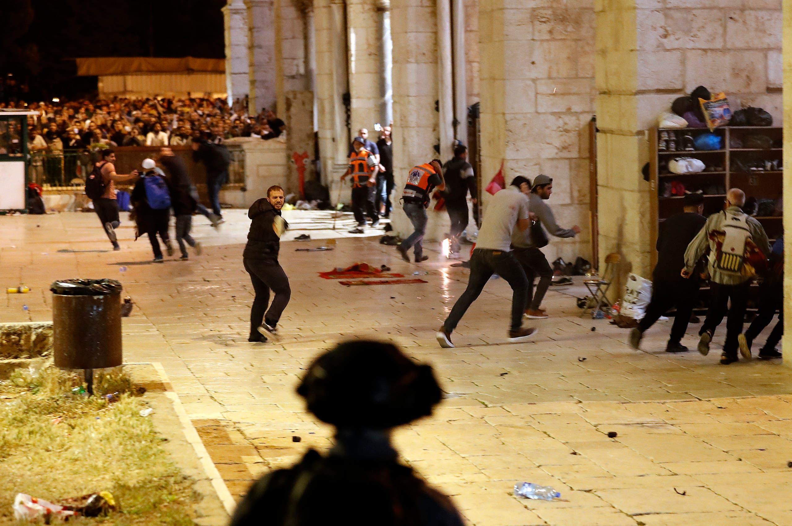 من اشتباكات المسجد الأقصى