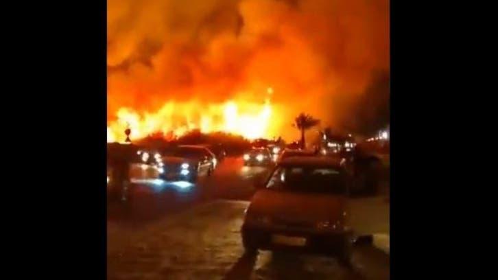 ایران کے شہر بوشہرمیں واقع جوہری پاور پلانٹ کے نزدیک آتش زدگی کا واقعہ