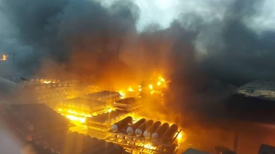آتشسوزی در شرکت تاژ