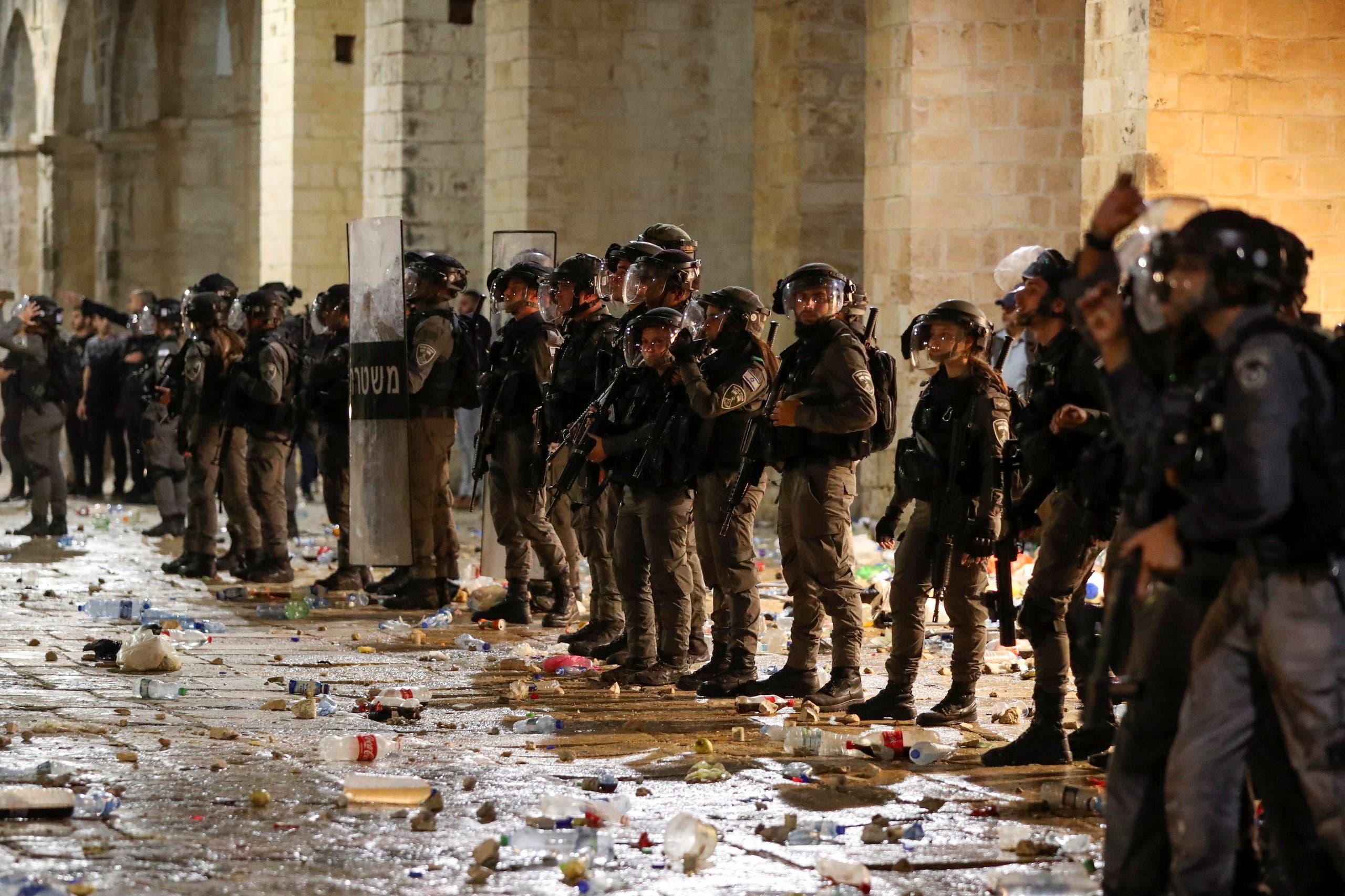 مسجد اقصی میں موجود اسرائیلی فوج