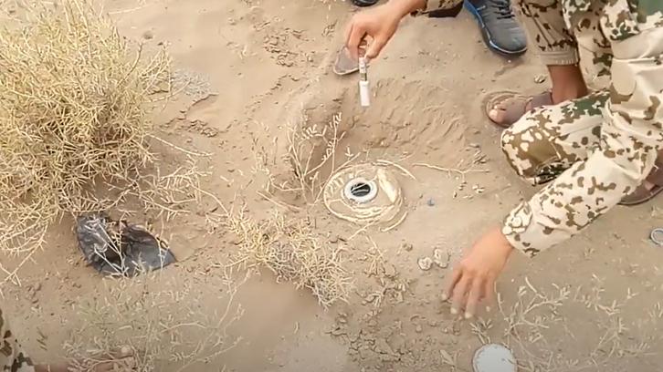 یمن سے بارودی سرنگ پانی کے بہاؤ کے باعث سعودی عرب پہنچ گئی