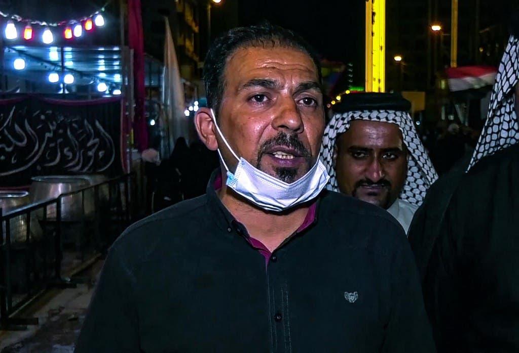 الناشط العراقي إيهاب الوزني - فرانس برس