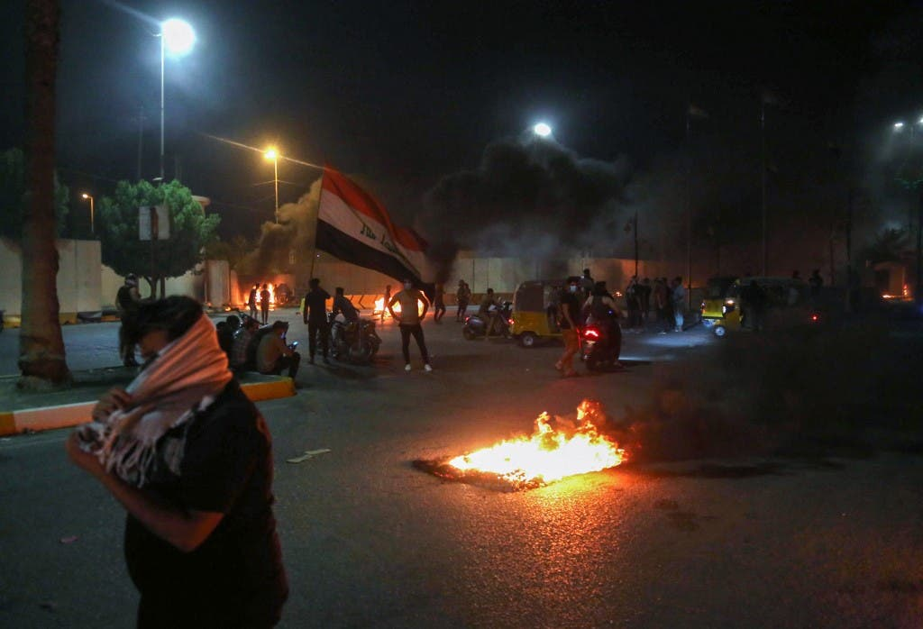 من تظاهرات كربلاء - فرانس برس