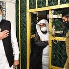 وزیر اعظم پاکستان عمران خان کی مسجد نبوی آمد، روضہ رسولﷺ پر حاضری اور نماز ادا