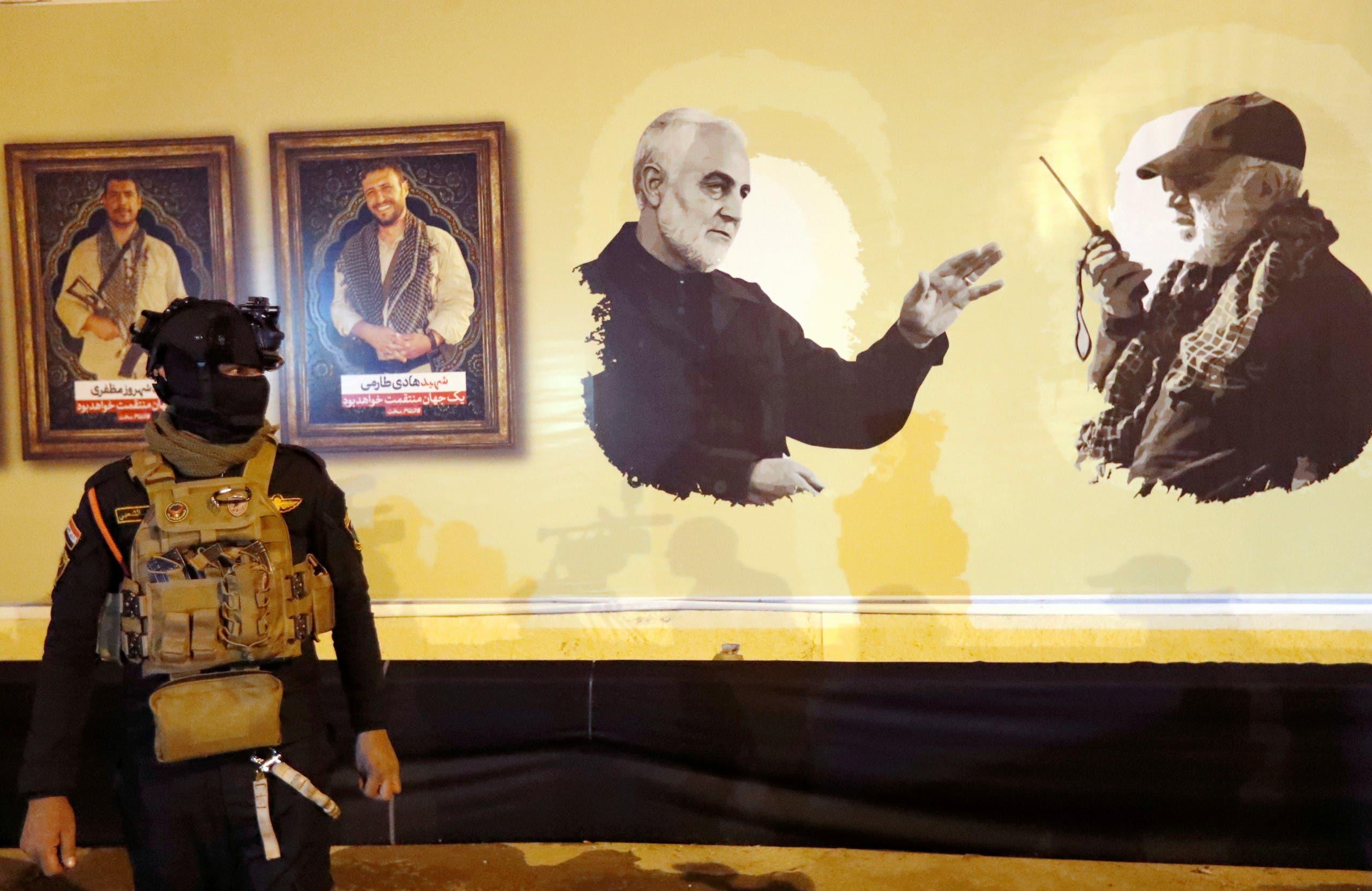 صورة لقاسم سليماني وأبو مهدي المهندس (أرشيفية- فرانس برس)