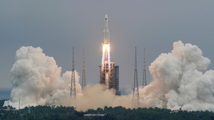 File of China rocket as debris heads for Earth