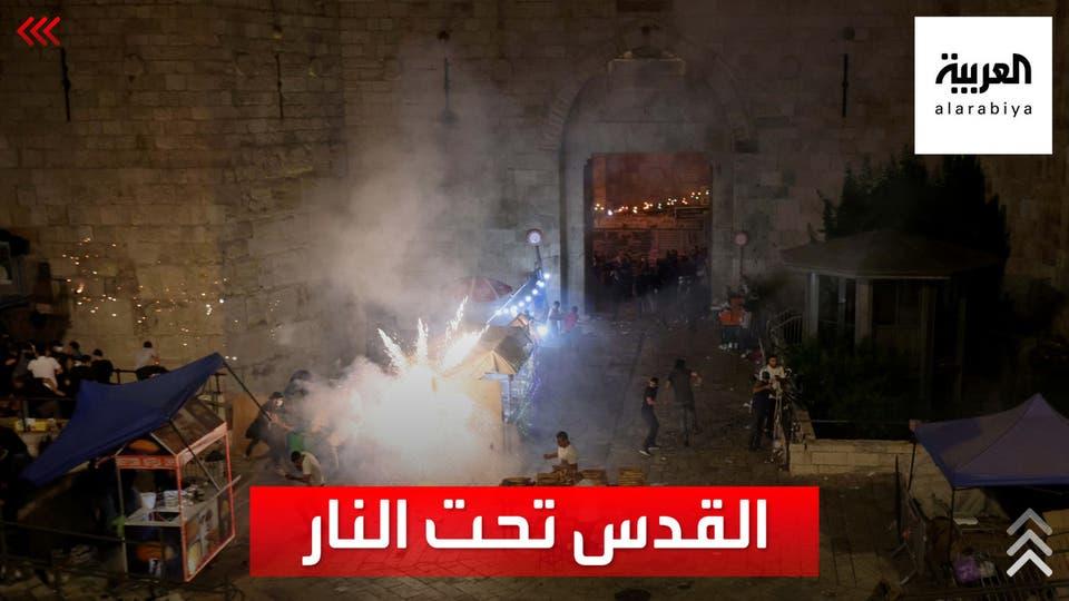 سحل وضرب واعتقال..مشاهد لاقتحام الشرطة الاسرائيلية المسجد الأقصى