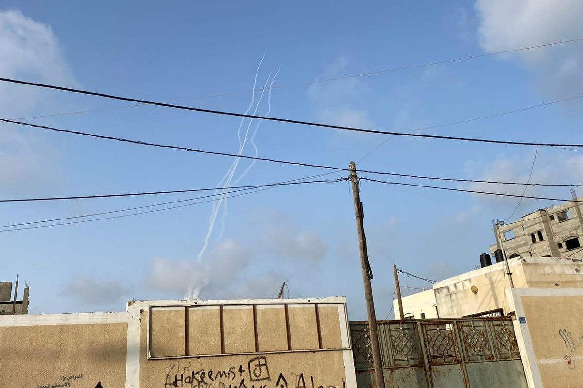 Rockets are launched into Israel amid Jerusalem's tension, in Gaza on May 10, 2021. (Reuters)