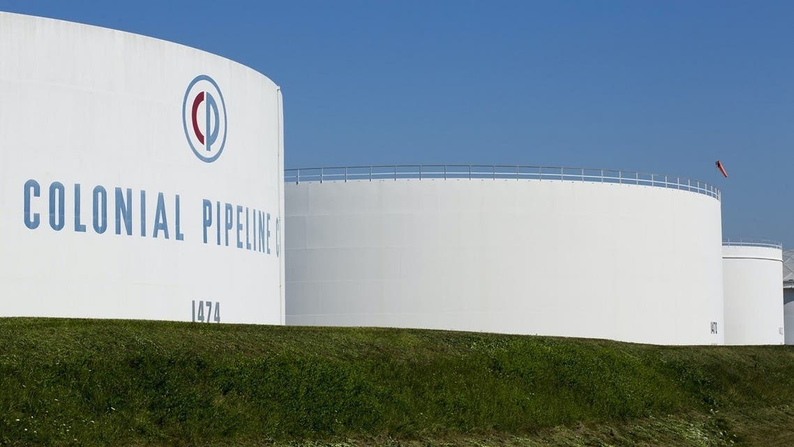Holding tanks are seen at Colonial Pipeline's Linden Junction Tank Farm in Woodbridge, New Jersey, US. (Reuters)