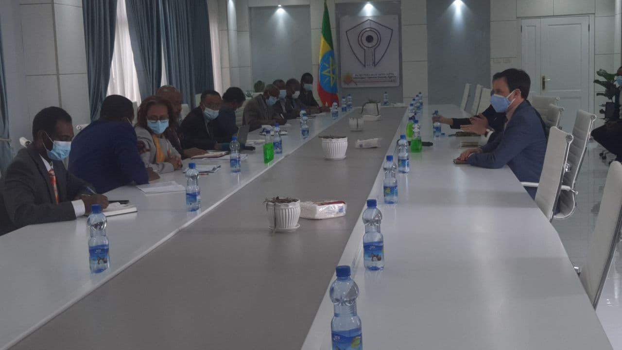 جانب من المحادثات في أديس أبابا
