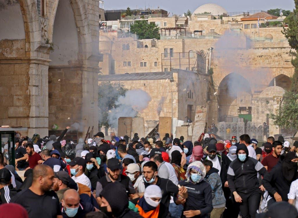 مواجهات القدس - فرانس برس