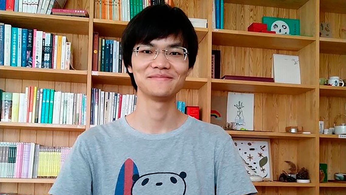 In this photo released by a friend of Cai Wei, Cai Wei poses for a photo in Beijing in June, 2018. More than a year after two young men, including Cai Wei, disappeared from their Beijing homes, they are set to be tried Tuesday, May 11, 2021 in a case that illustrates the Chinese government's growing online censorship and sensitivity to any criticism of its COVID-19 response. (Friend of Cai Wei via AP)
