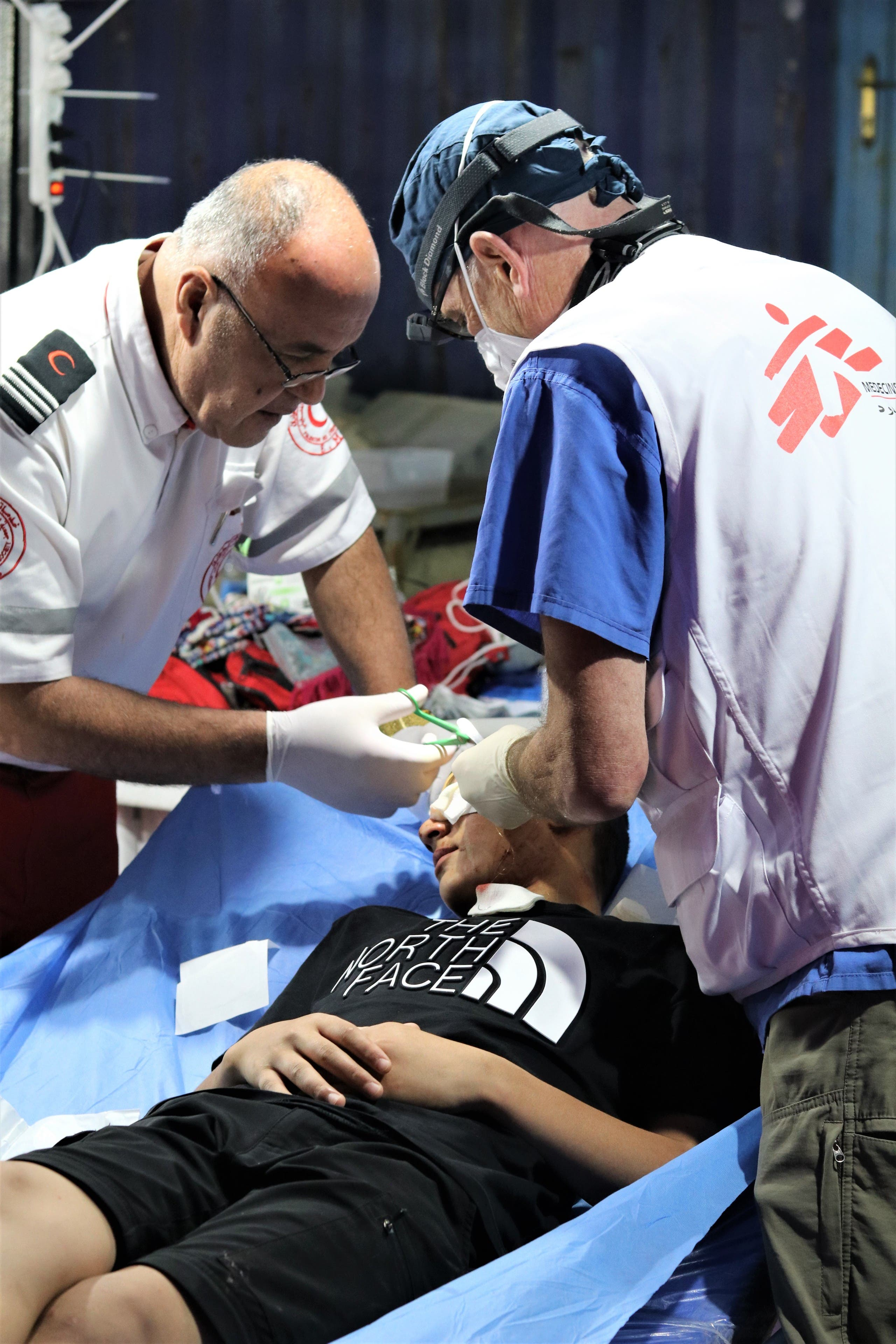 At least 612 Palestinians, including children, were injured on Monday, according to the Palestinian Red Crescent Society, with 411 patients taken to hospital. (Image: MSF)