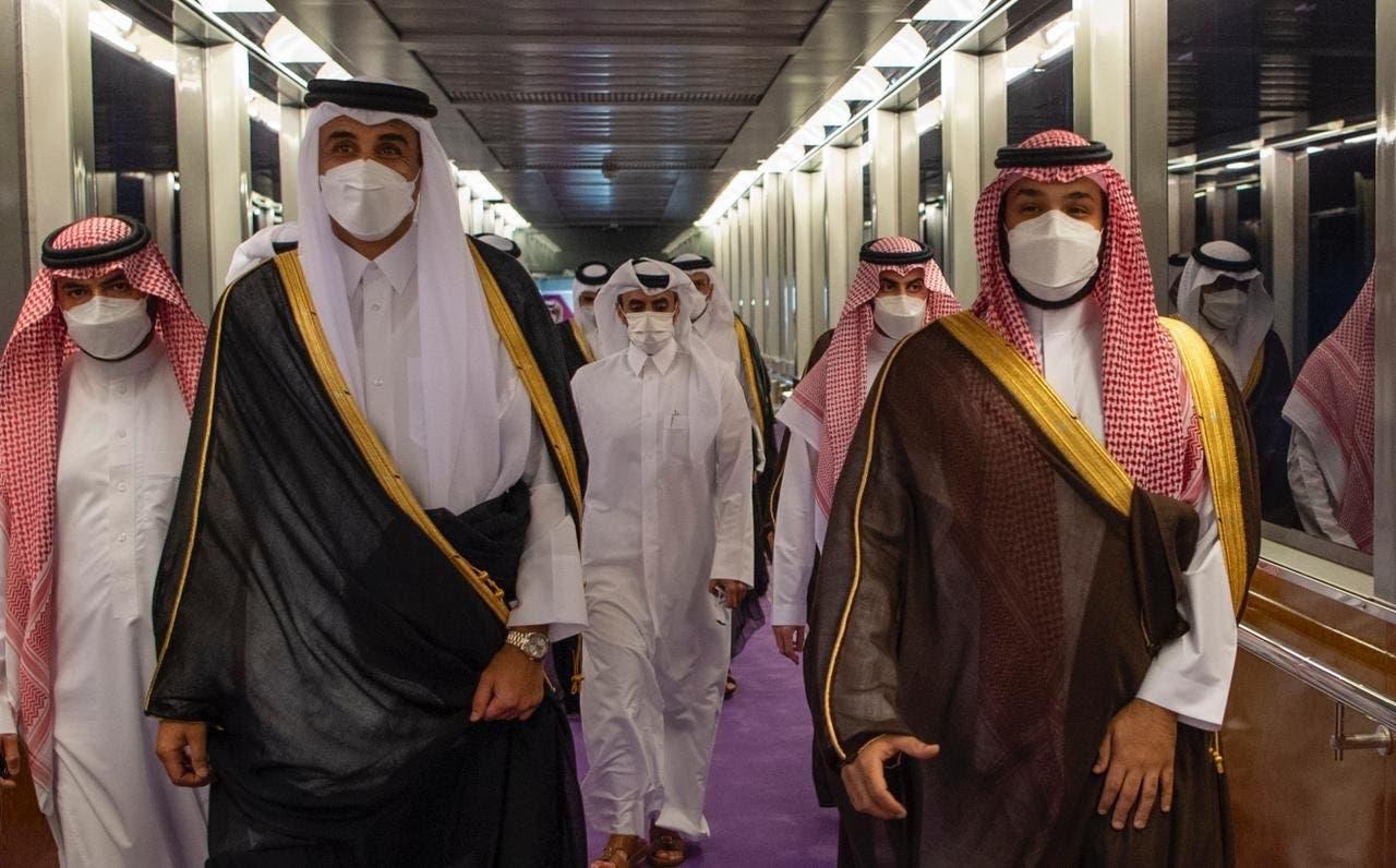 شاهزاده محمد بن سلمان و امیر قطر تمیم بن حمد آل ثانی