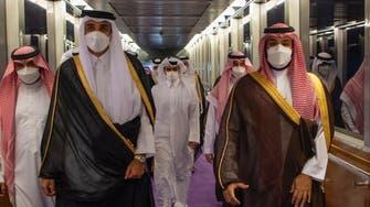 Saudi Arabia's Crown Prince welcomes Qatari Emir in Jeddah