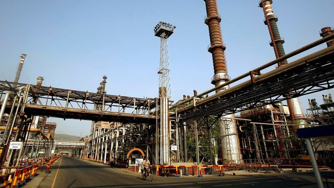 The Bharat Petroleum Corporation refinery in Mumbai. (Reuters)