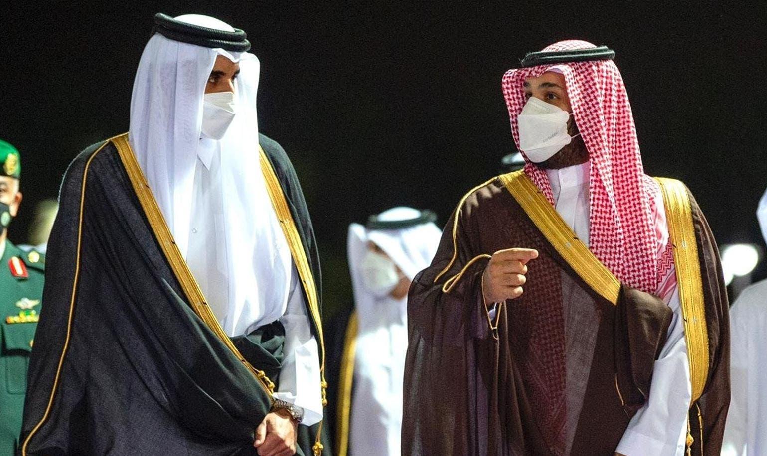 ولي العهد السعودي وأمير قطر