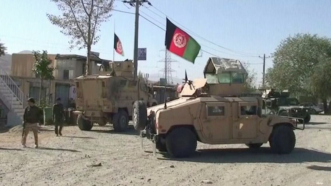 Security Humvees gather near a site attacked by Taliban in Sayeed Abad district, Wardak Province, Afghanistan. (Reuters)