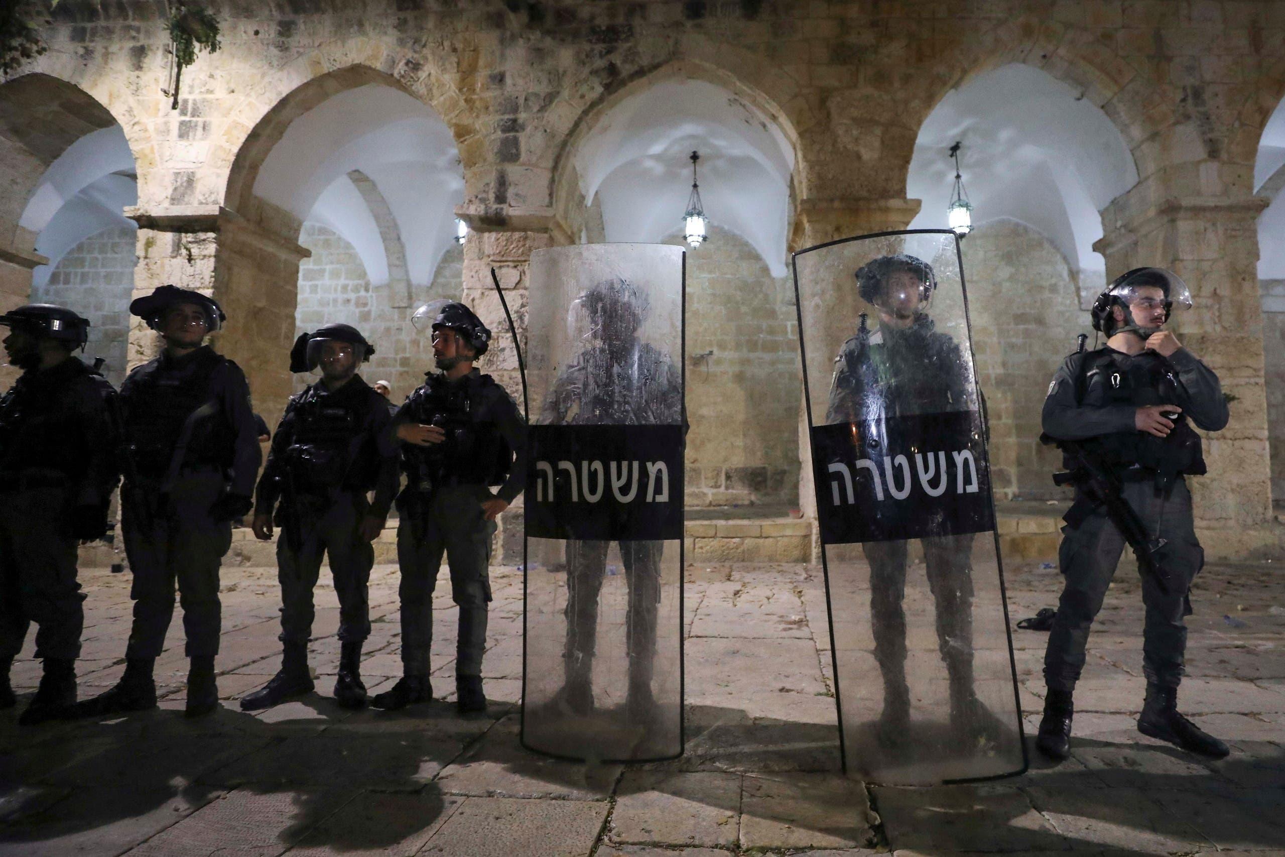 نیروهای اسرائیلی در مسجد الاقصی
