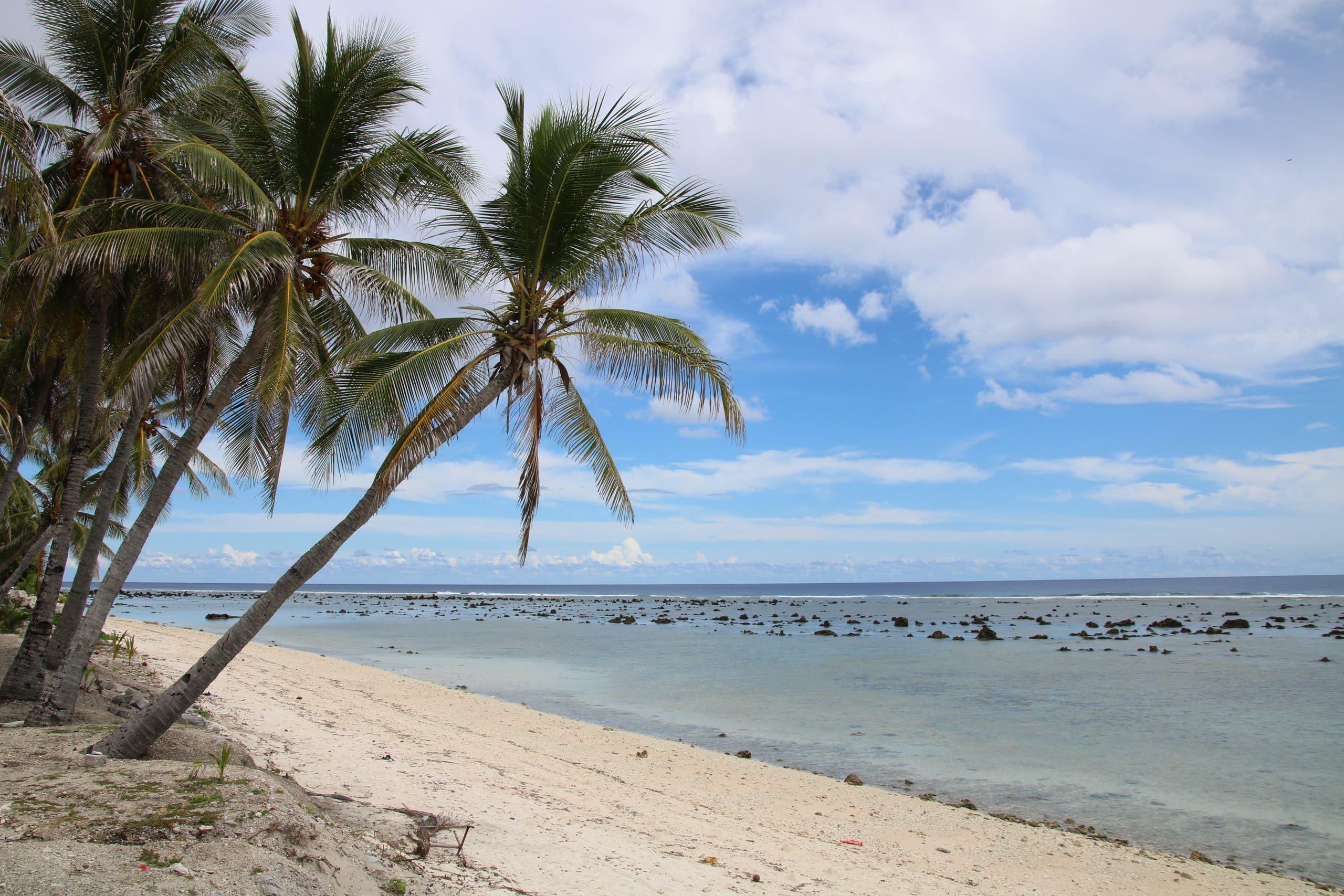 أحد شواطئ جزيرة ناورو