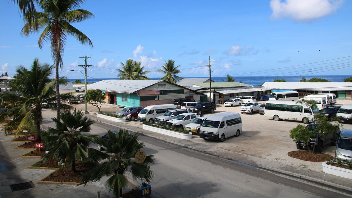 This general view shows the Civic Center where the Pacific Islands Forum (PIF) is taking place in Aiwo on the island of Nauru on September 4, 2018. Pacific leaders opened their annual diplomatic summit in Nauru on September 3, but the ceremony was overshadowed by allegations that children of asylum-seekers on the tiny Pacific island have been traumatised by systemic abuse.
