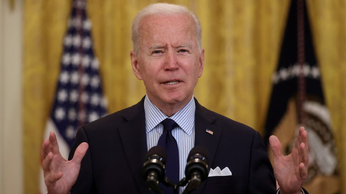 FILE PHOTO: U.S. President Joe Biden delivers remarks on the April jobs report from the East Room of the White House in Washington, U.S., May 7, 2021. REUTERS/Jonathan Ernst/File Photo