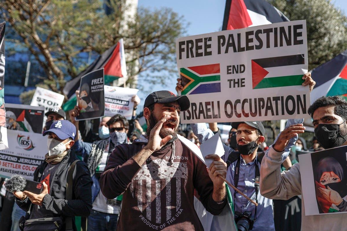 South Africans protest over Palestinian deaths | Al Arabiya English