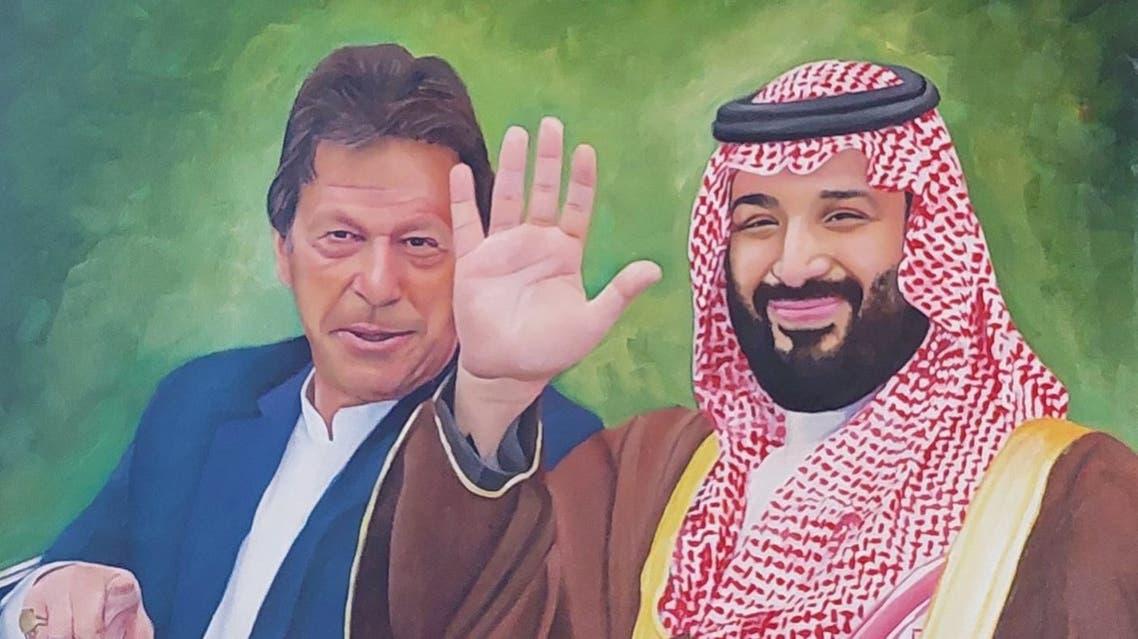 اللوحة التي رسمتها التشكيلية الباكستانية رابية زاكر