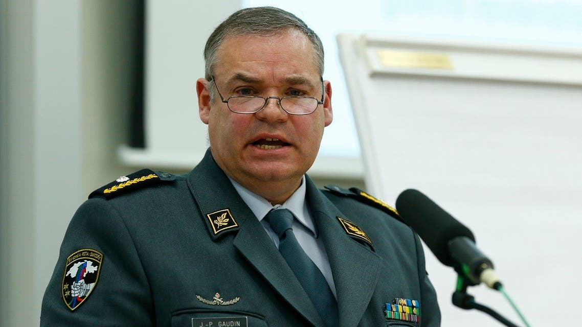 A file photo shows the head of the Swiss Army's intelligence service Jean-Philippe Gaudin at the Swiss Army Base in Bern May 9, 2014. (Reuters/Ruben Sprich)
