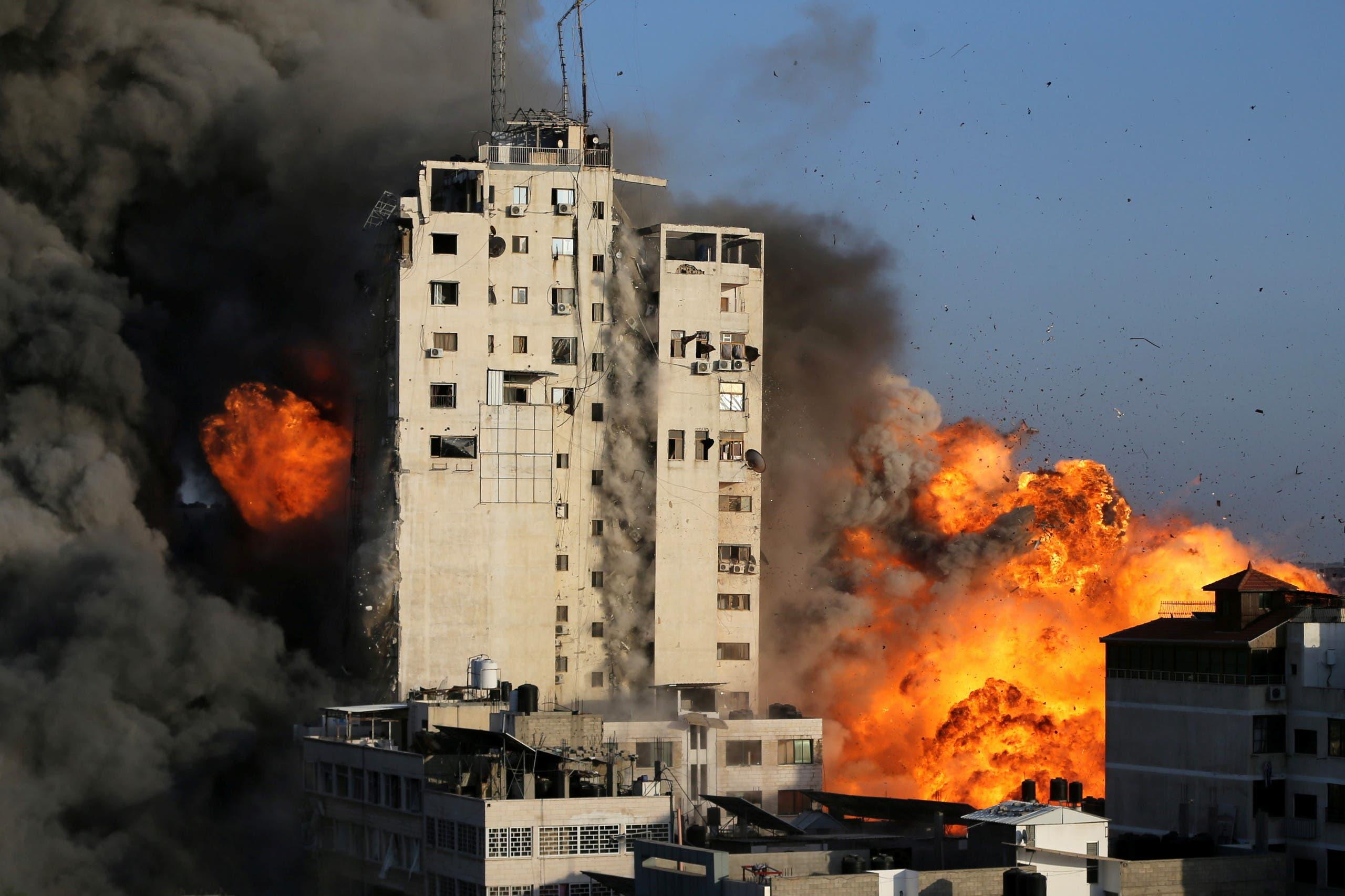 غزہ پر شدید بمباری