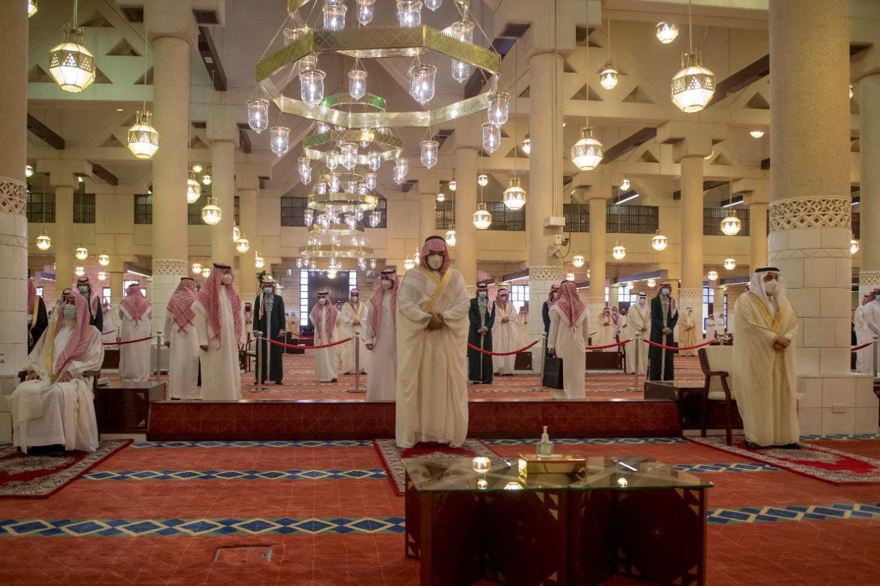 Saudi Crown Prince Mohammed bin Salman performed Thursday's Eid al-Fitr prayers in Riyadh, the Kingdom's capital. (SPA)