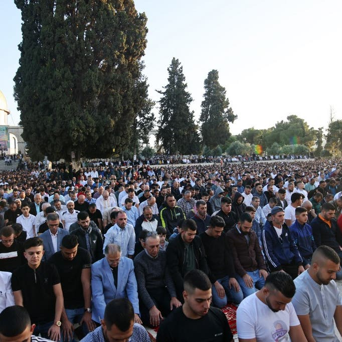 Palestinians mark Eid in al-Aqsa days after Israeli forces attacked worshipers